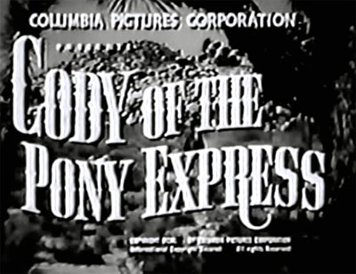 Cody of the Pony Express--titles