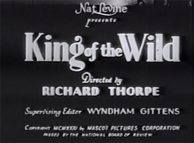 King of the Wild--titles