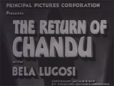 Return of Chandu titles