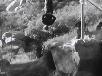 Mysterious Island--suspension cliffhanger