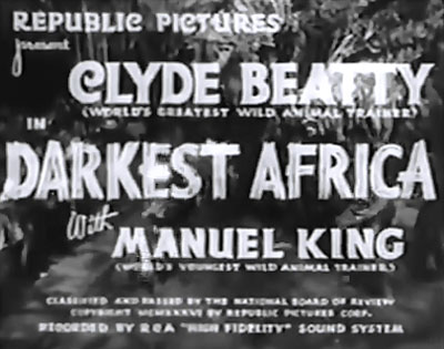 Darkest Africa--titles