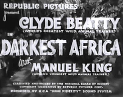 Darkest Africa--titles