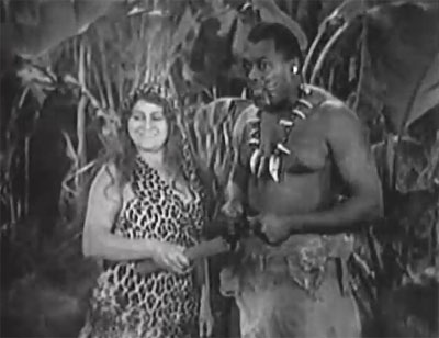 Queen of the Jungle--Leopard Woman and Garu