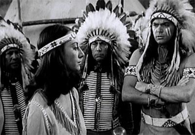 Scarlet Horseman--Victoria Horne and Indians
