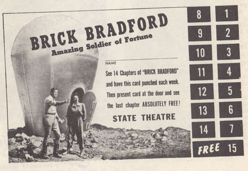 Brick Bradford ticket-punch card