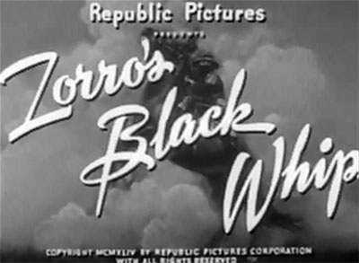 Zorro's Black Whip--titles