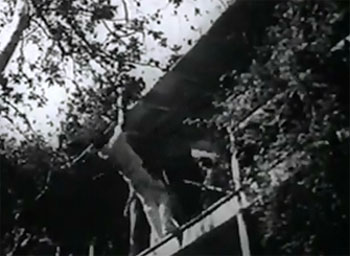 New Adventures of Tarzan--balcony fall